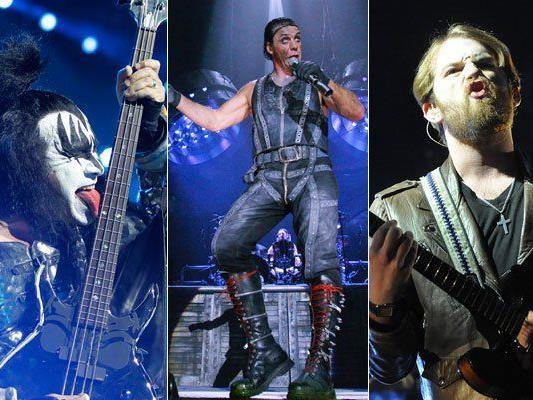 Kiss, Rammstein und Kings of Leon sind die Headliner am Nova Rock Festival 2013