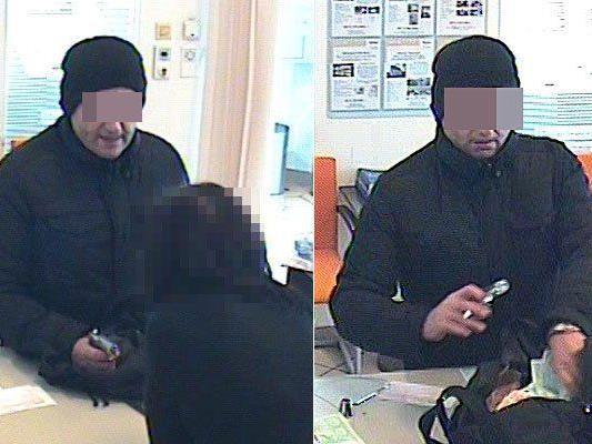 Der Angeklagte beim Bankraub in Wiener Neustadt