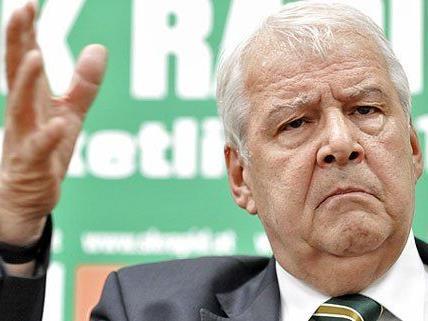 Der SK Rapid Wien stellt sich mit Präsident Edlinger in den Dienst der guten Sache.