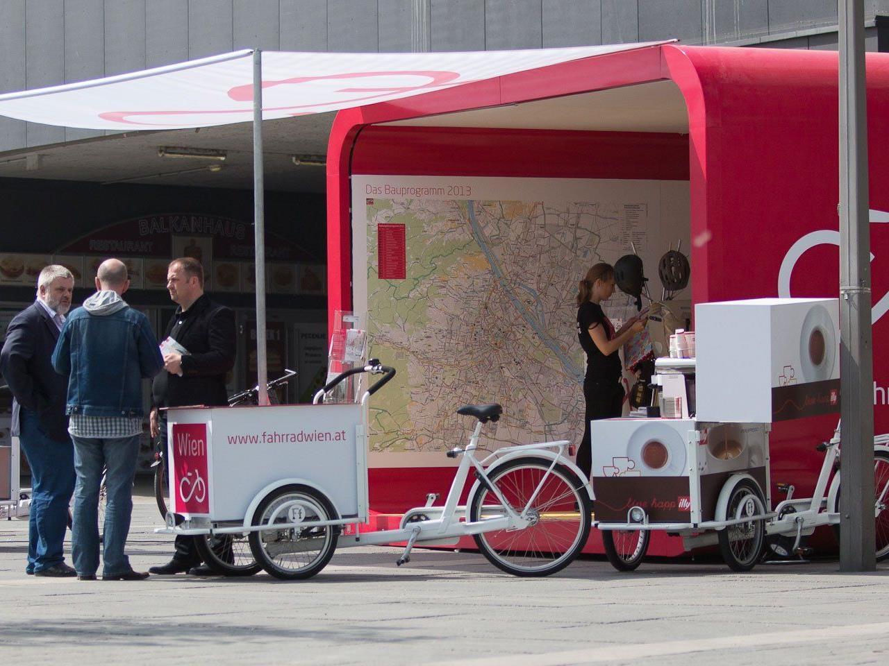 Vom 18. bis 22. Juni gastiert das Fahrradhaus beim Einkaufszentrum Wien-Mitte The Mall.