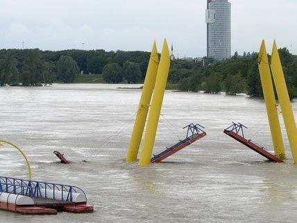 Der Pegelstand der Donau ist bereits jetzt höher als 2002.