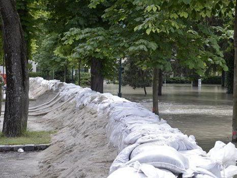 In Niederösterreich ist der Pegel der Donau bereits wieder gesunken.