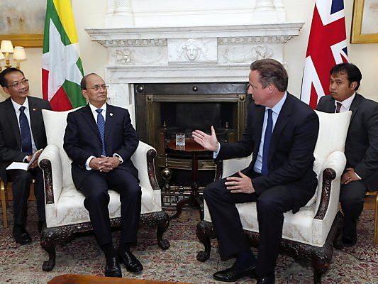 Thein Sein und Cameron in London