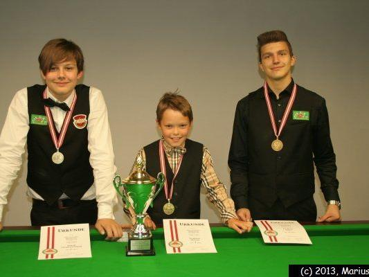 Oskar Charlesworth (2., HSEBC), Florian Nüssle (1., TSG), Patrick Stift (3., HSEBC)