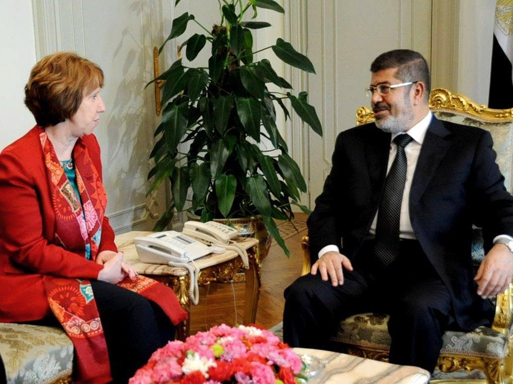 Am Dienstag traf sich Mohammed Mursi mit Catherine Ashton.