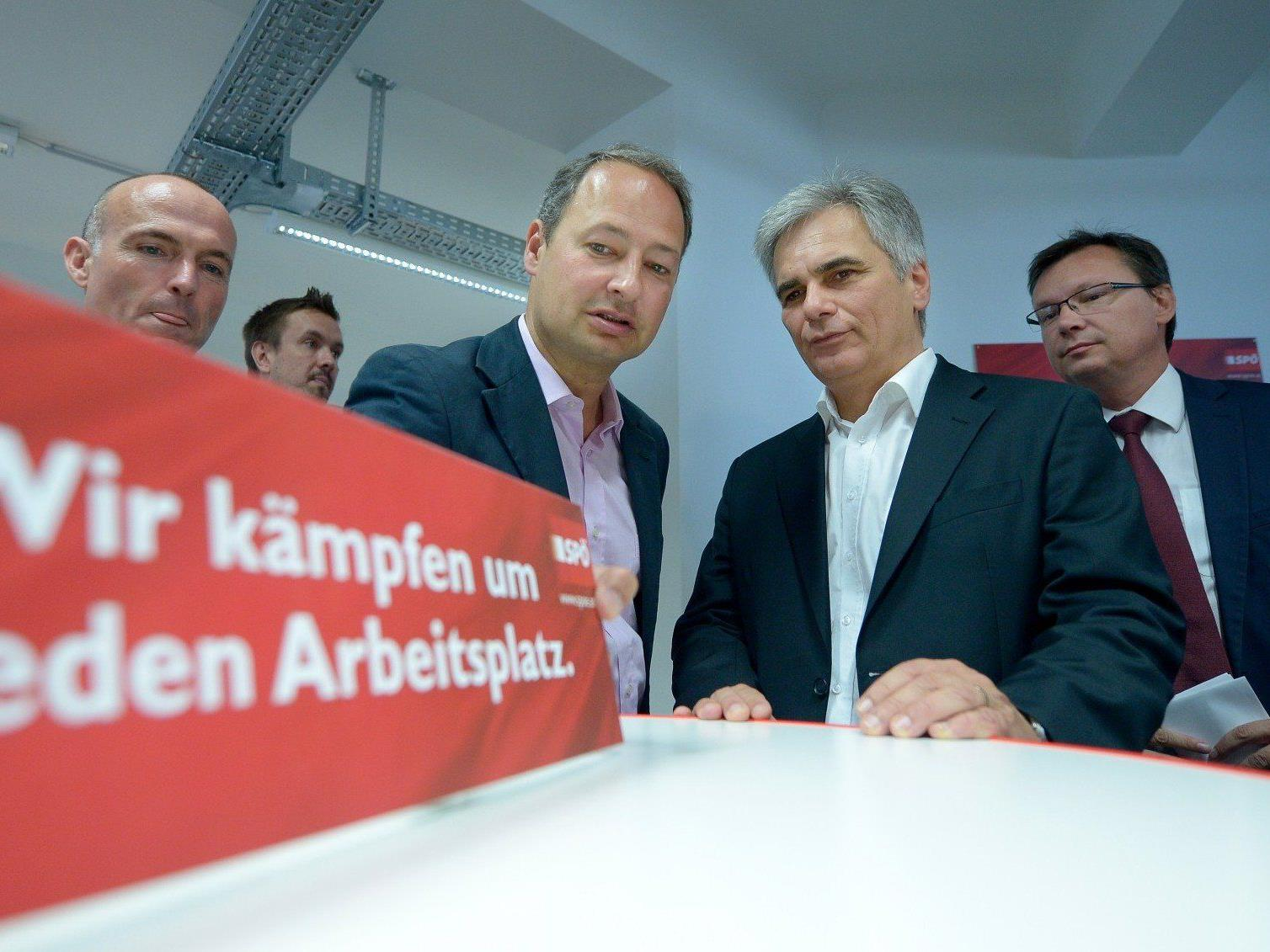 Werner Faymann eröffnete die SPÖ-Wahlkampfzentrale in Wien.