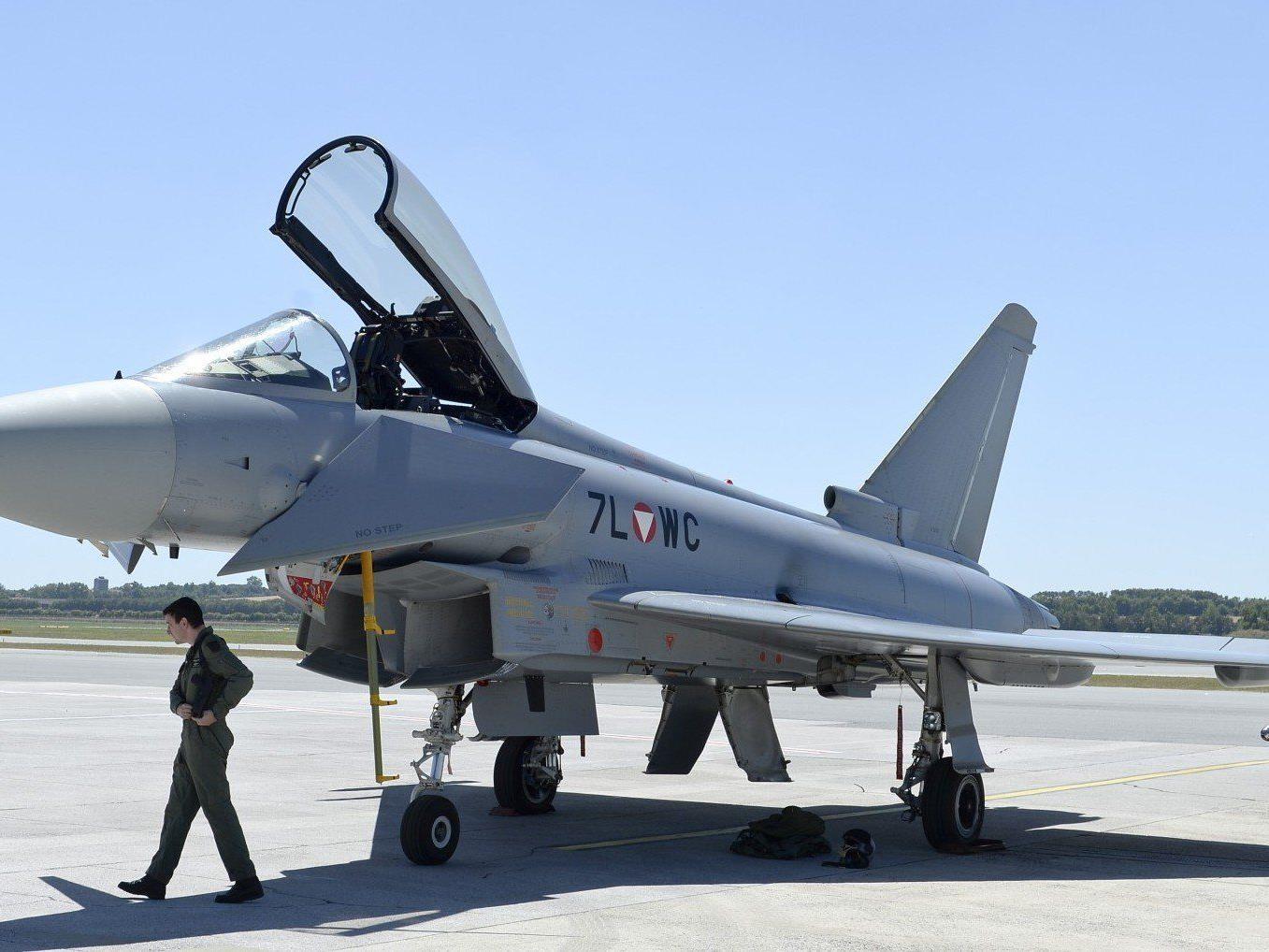 Am Montag landeten erstmals zwei Eurofighter für Schulungszwecke am Flughafen Wien-Schwechat.