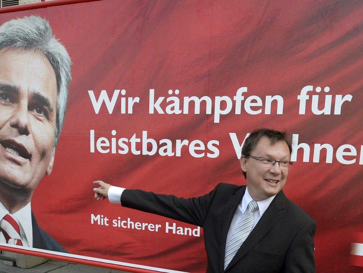 Neben diesen Plakaten sollen ab 1. August die Kernthemen der Nationalratswahl 2013 aufgezeigt werden.