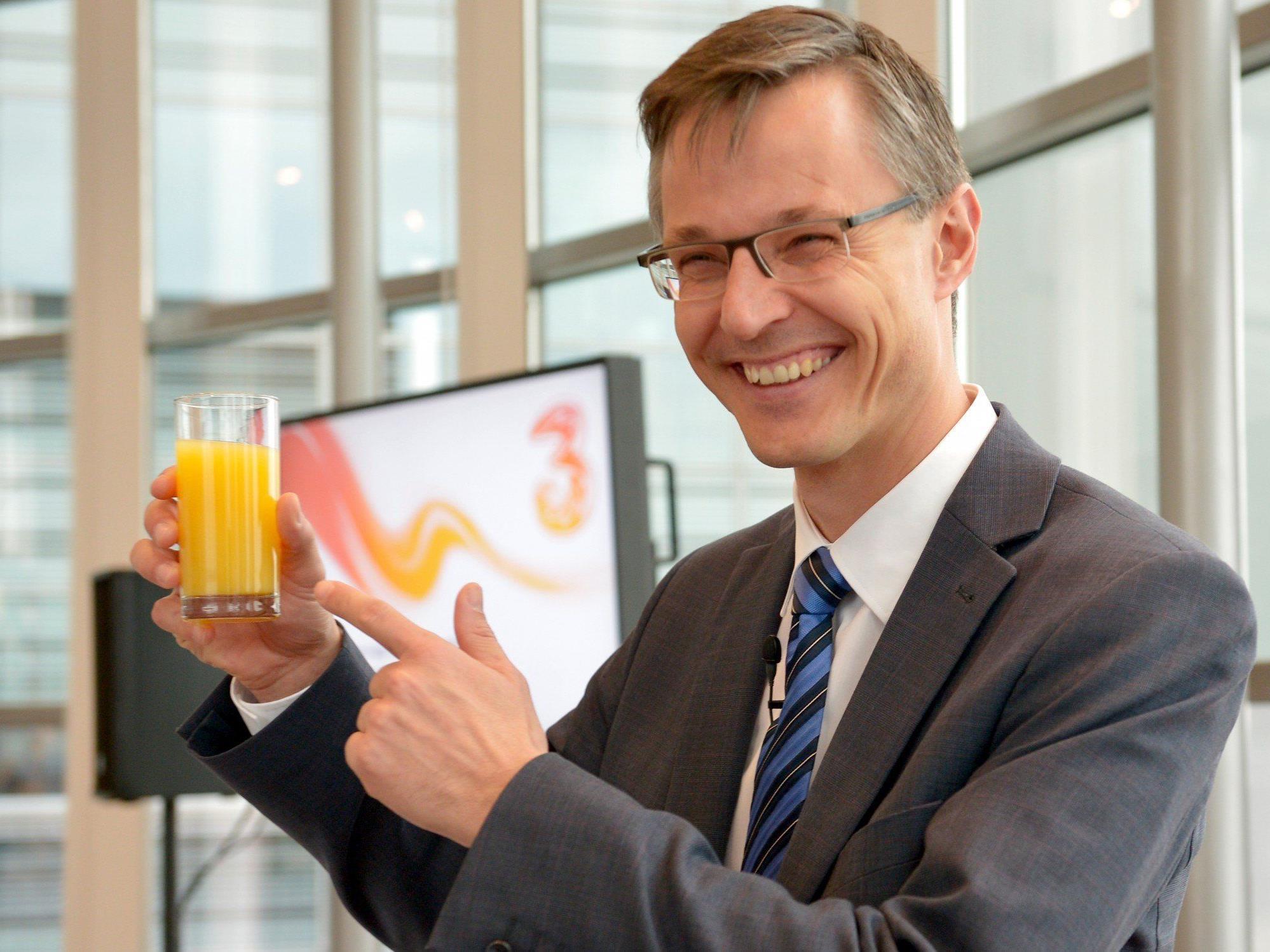 """Der Name """"Orange"""" wurde liquidiert - neuer Name: Hutchison Drei Austria."""