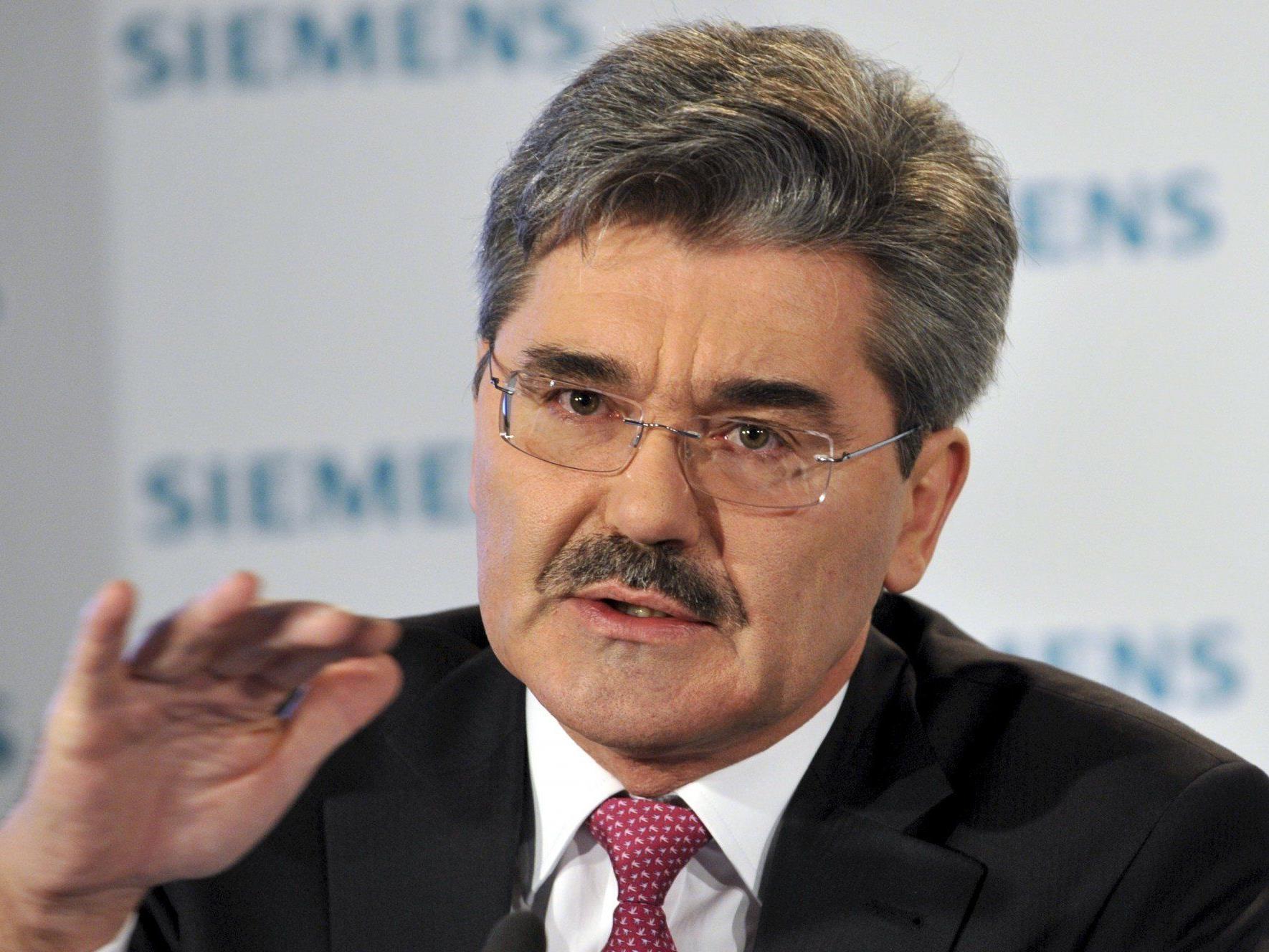 Joe Kaeser löst Siemens-Vorstandschef Löscher ab.