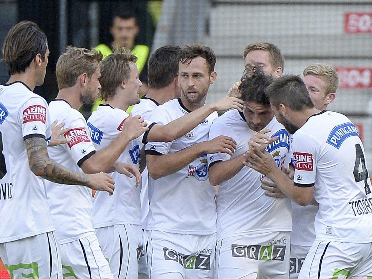 Wir berichten ab 16.30 Uhr live vom Spiel SK Sturm Graz gegen SV Grödig im Ticker.