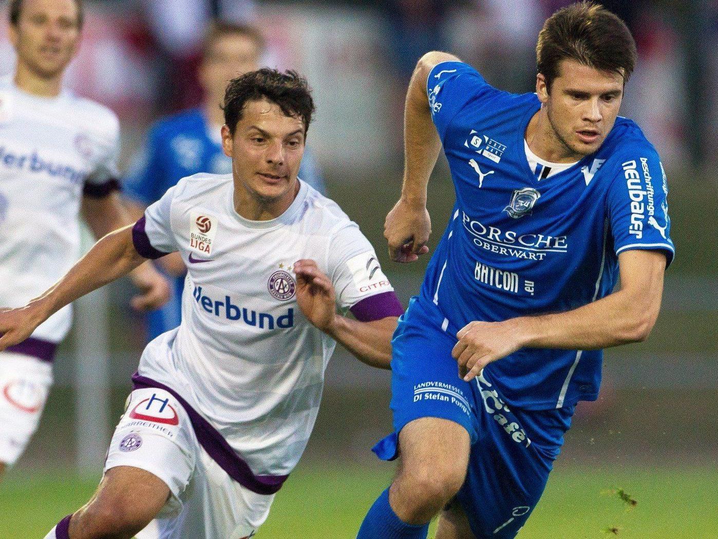 Austria Wien, FC Admira Wacker Mödling und SV Ried gewannen in der 1. Cup-Runde.