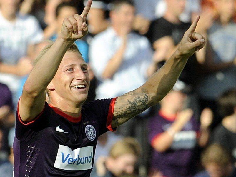 Austrias Daniel Royer erzielte in der Champions League-Qualifikation das einzige Tor.