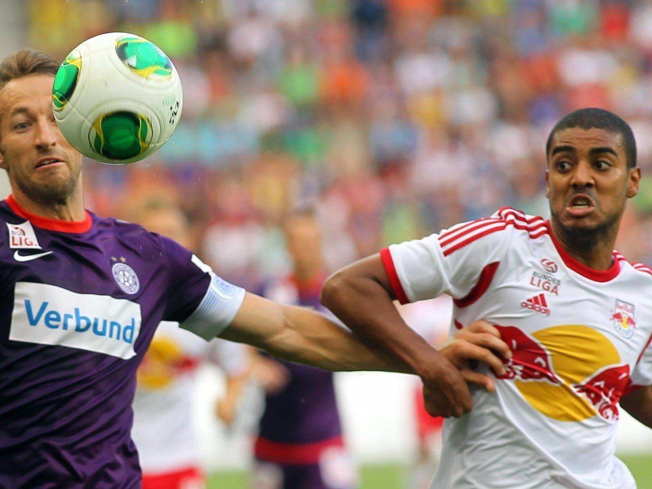 Die Wiener Austria blickt nach der Pleite gegen Red Bull Salzburg in Richtung Champions League.