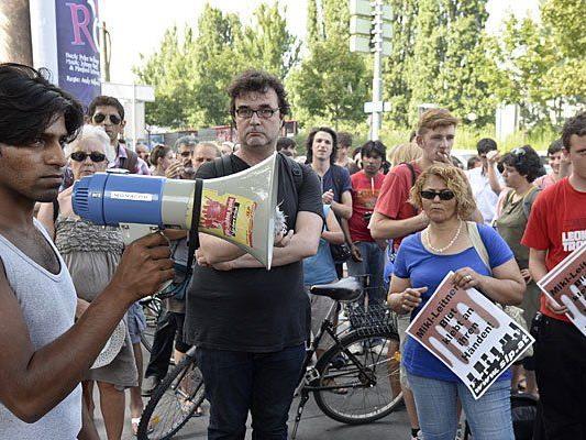 Gegen die Abschiebung der Flüchtlinge wurde in den letzten Tagen demonstriert