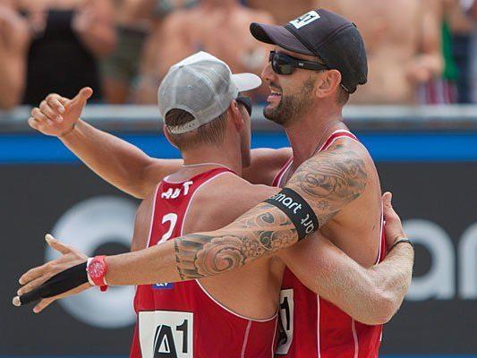 Die Österreicher Alexander Horst (l.) und Clemens Doppler siegten gegen Ingrosso/Cecchini