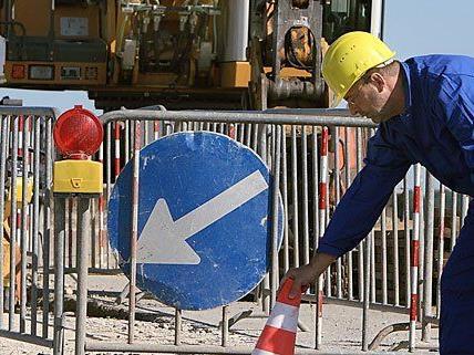 In der Westausfahrt finden Bauarbeiten statt