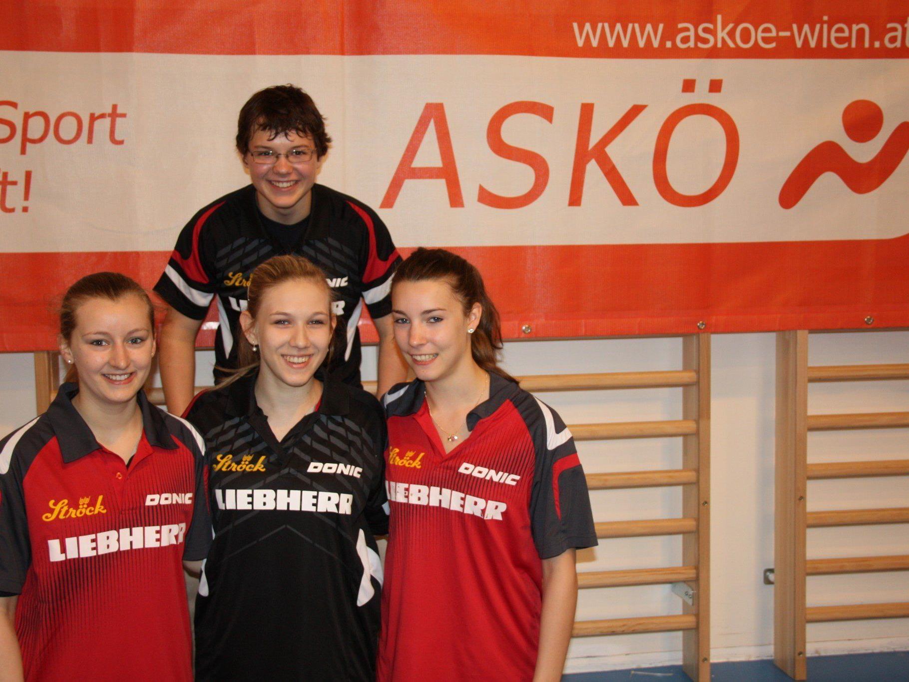 Oben: David Klaus, unten v.l.n.r.: Sandra Fuchs, Sophia Kellermann, Karoline Mischek