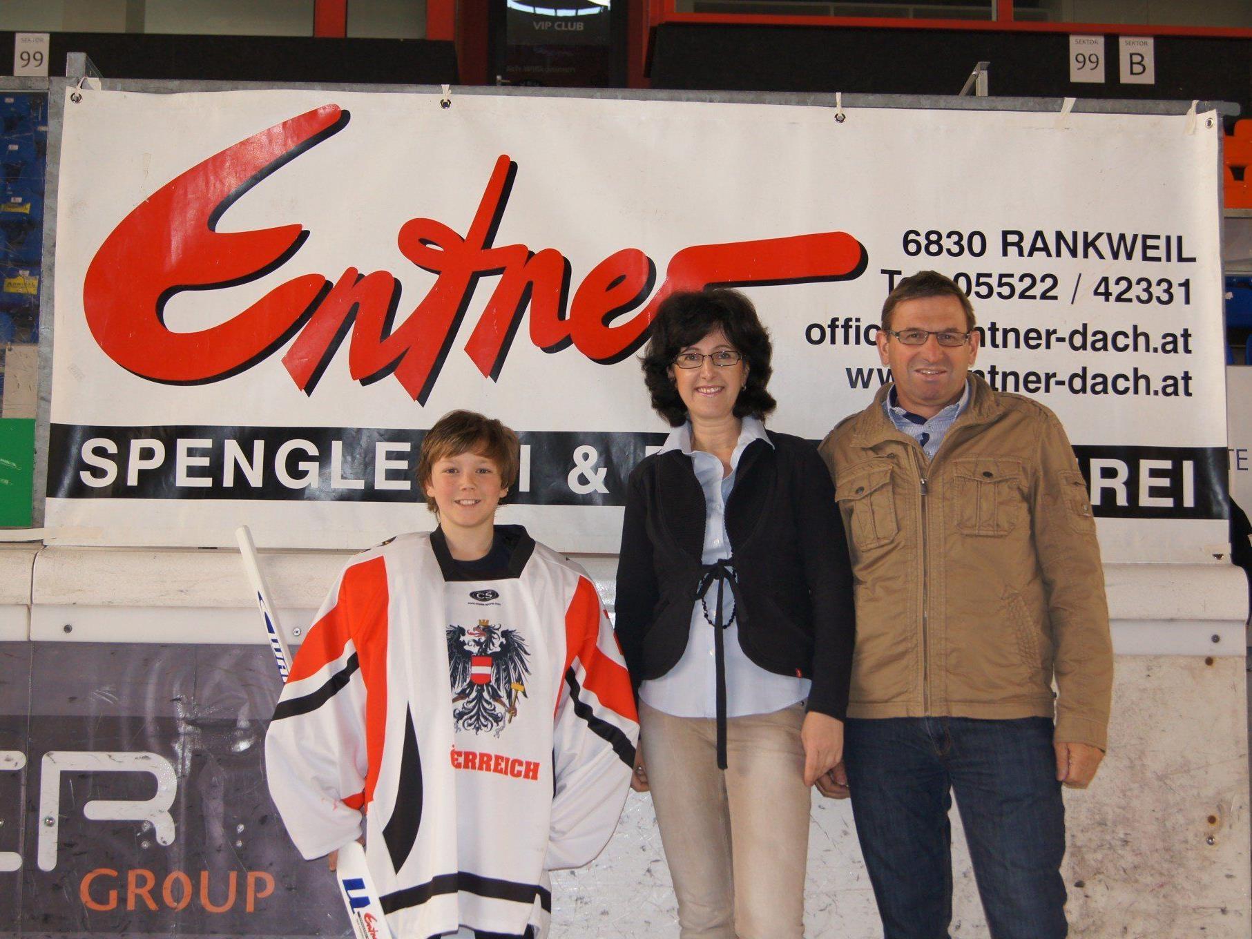 Die Firma Entner Spenglerei unterstützt das Talent Felix Beck bei seinem sportlichen Werdegang.