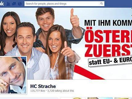 H. C. Strache litt unter einer zeitweiligen Facebook-Sperre