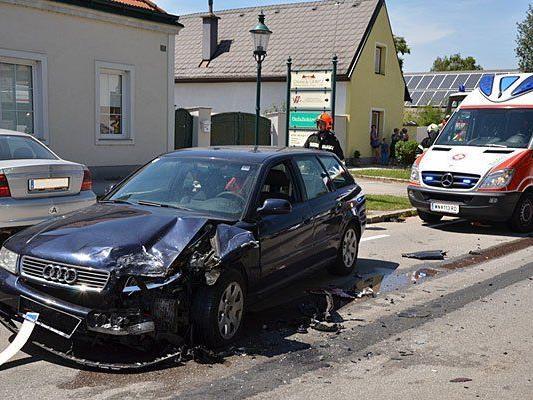 Beim Unfall in Katzelsdorf