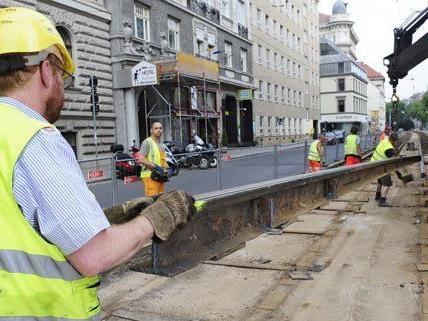 Auf der Großbaustelle in der Währinger Straße haben die Arbeiten bereits begonnen.