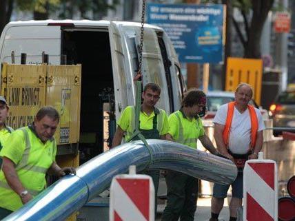 Wiener Wasser erneuert wichtige Wiener Wasserleitung am Hietzinger Kai