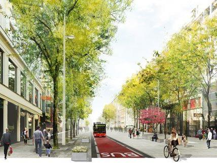 Mariahilfer Straße wird neu gestaltet: Die Busfahrer der Linie 13A befürchten Probleme.