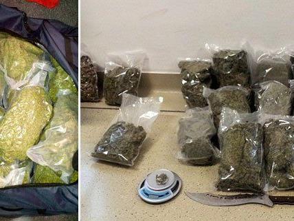 Fast 15 Kilo Marihuana konnten sichergestellt werden.