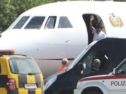 Das Flugzeug von Evo Morales wurde nicht durchsucht.