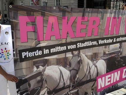 Fiaker-Befürworter und -Gegner trafen am Samstag zusammen.