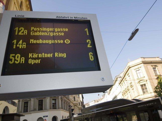 Die elektronischen Informationsanzeigen der Wiener Linien werden ausgebaut.