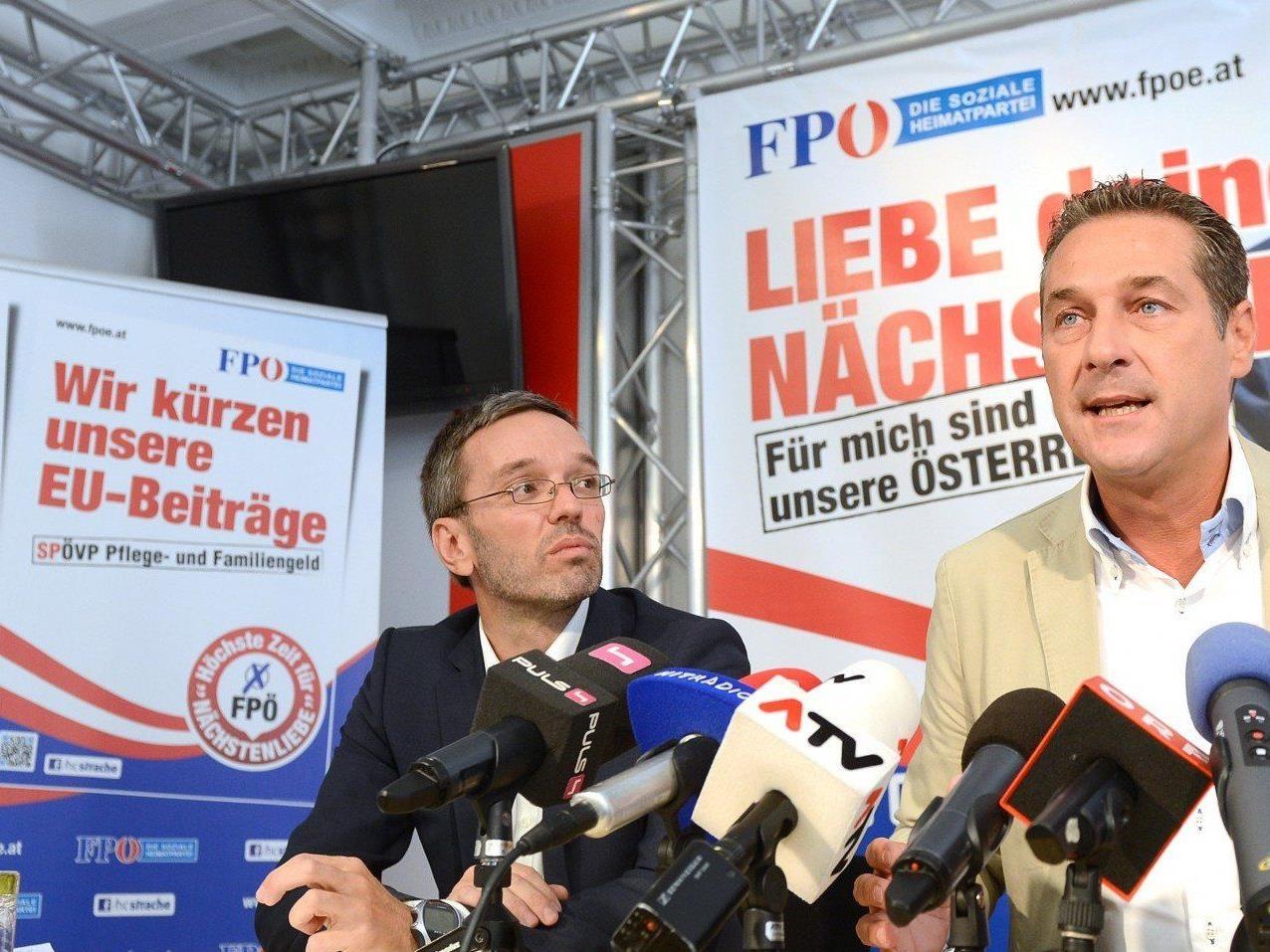 Die FPÖ stellte am Mittwoch ihr Wahlprogramm für die Nationalratswahl vor.