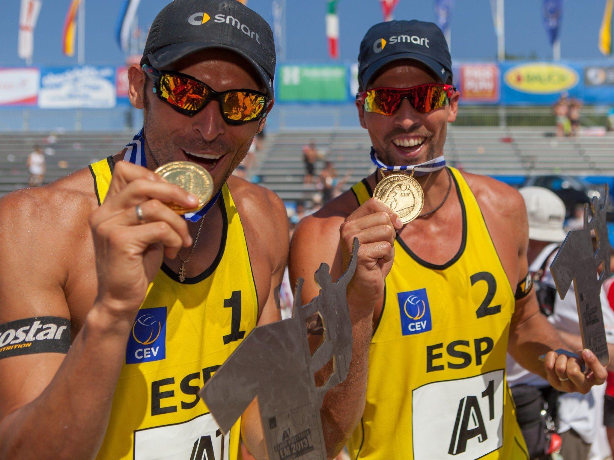 Beach-Volleyball: Spanier Herrera nach Knieverletzung zum 2. EM-Titel
