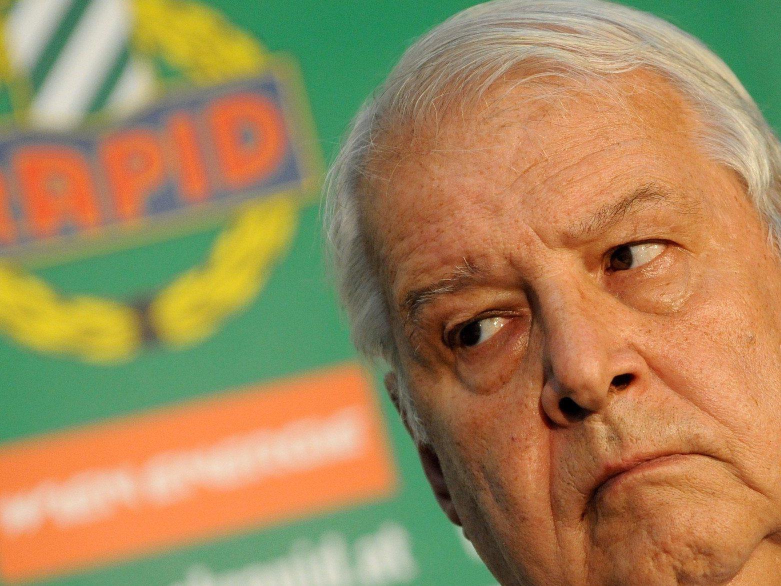 Rapid Präsident Rudolf Edlinger stand im Interview Rede und Antwort.