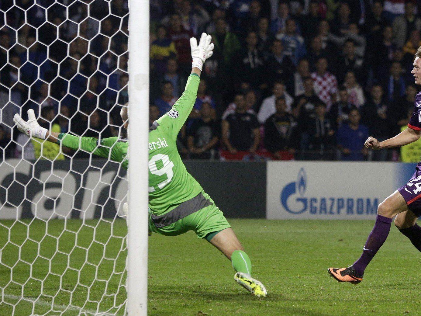 Die Wiener Austria steht trotz Niederlage gegen Dinamo Zagreb in der Gruppenphase der Champions League.