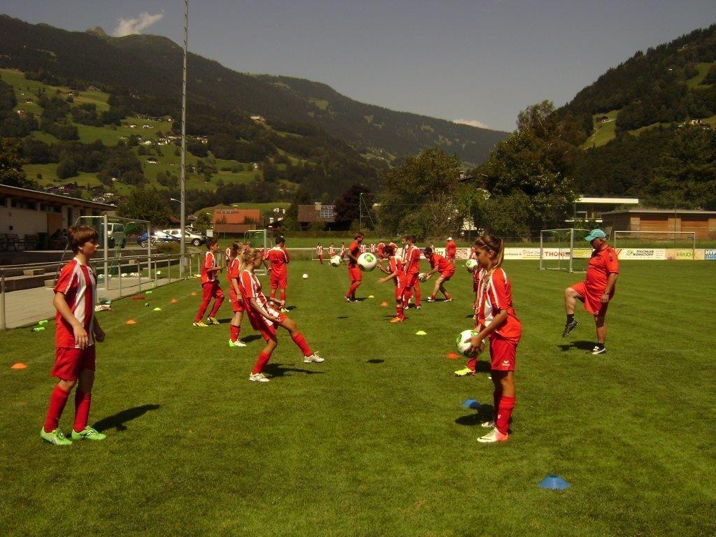 Nachwuchstraining beim Golm FC Schruns