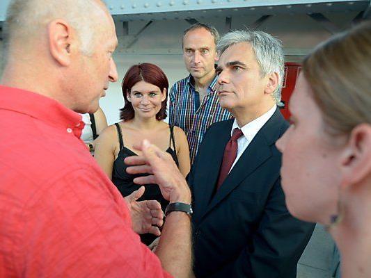 Kanzler Faymann beim SPÖ-Event in Wien
