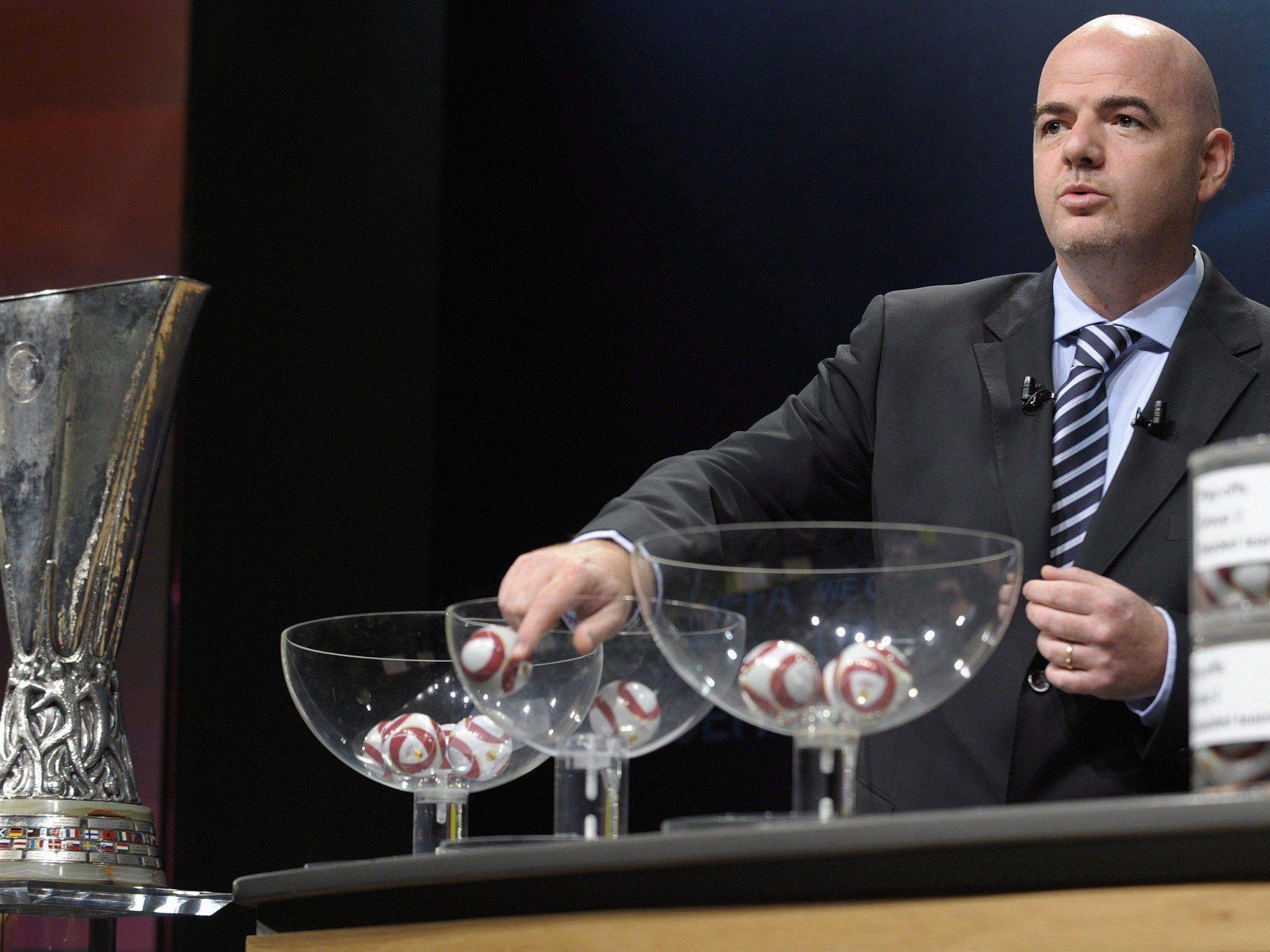 Am Freitag werden die Gruppen der Europa League ausgelost. Auf wen treffen Rapid Wien und Red Bull Salzburg?