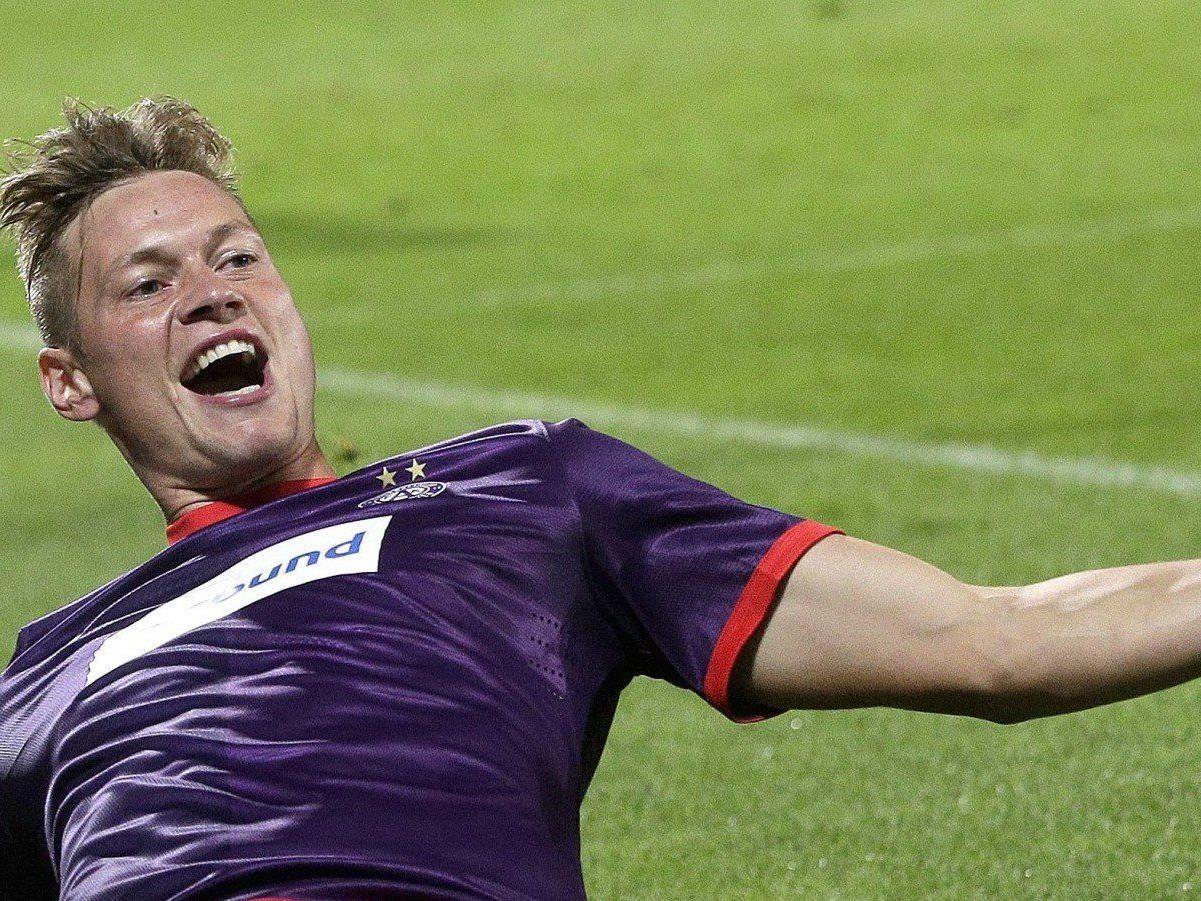 Roman Kienast schoss das entscheidende Tor gegen Dinamo Zagreb.