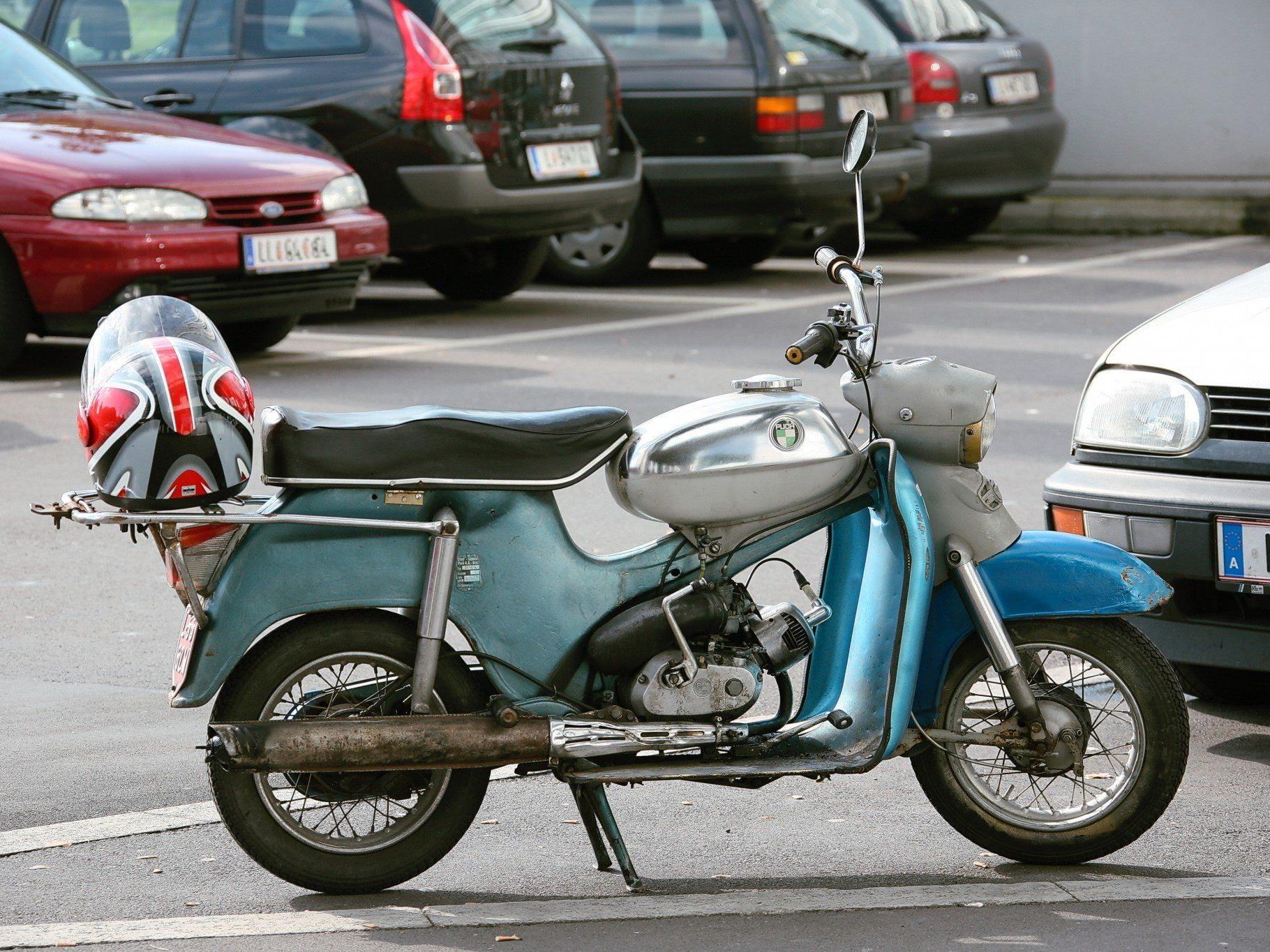 Ein Jugendlicher war in Liesing mit einem gestohlenen Moped unterwegs