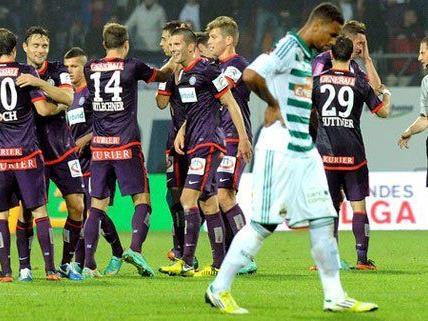 Rapid und Austria stehen sich am Sonntag im Derby gegenüber.