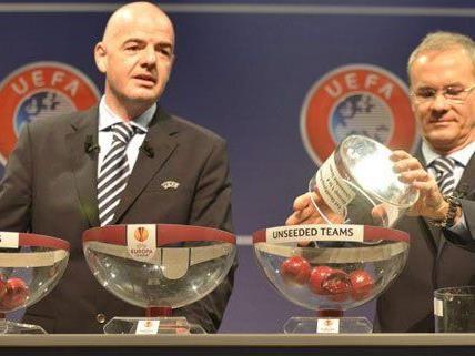 Die Auslosung für das Europa League Play Off ergab lösbare Aufgaben für Rapid und Salzburg