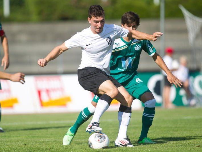 Bregenz-Verteidiger Julian Mair will mit seinen Mannschaftskollegen gegen Austria Salzburg gewinnen.