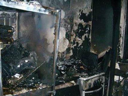 Wohnung in Wien Brigittenau fing Feuer