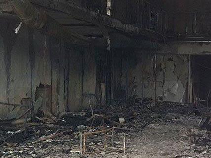 Brandstiftung in einem Saunaclub in Wien.