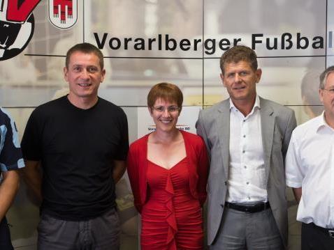 Bei der Pressekonferenz in der VFV-Geschäftsstelle in Hohenems stand der Nachwuchs im Mittelpunkt.