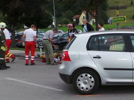 Ein Radfahrer wurde bei dem Unfall am Donnerstag verletzt.