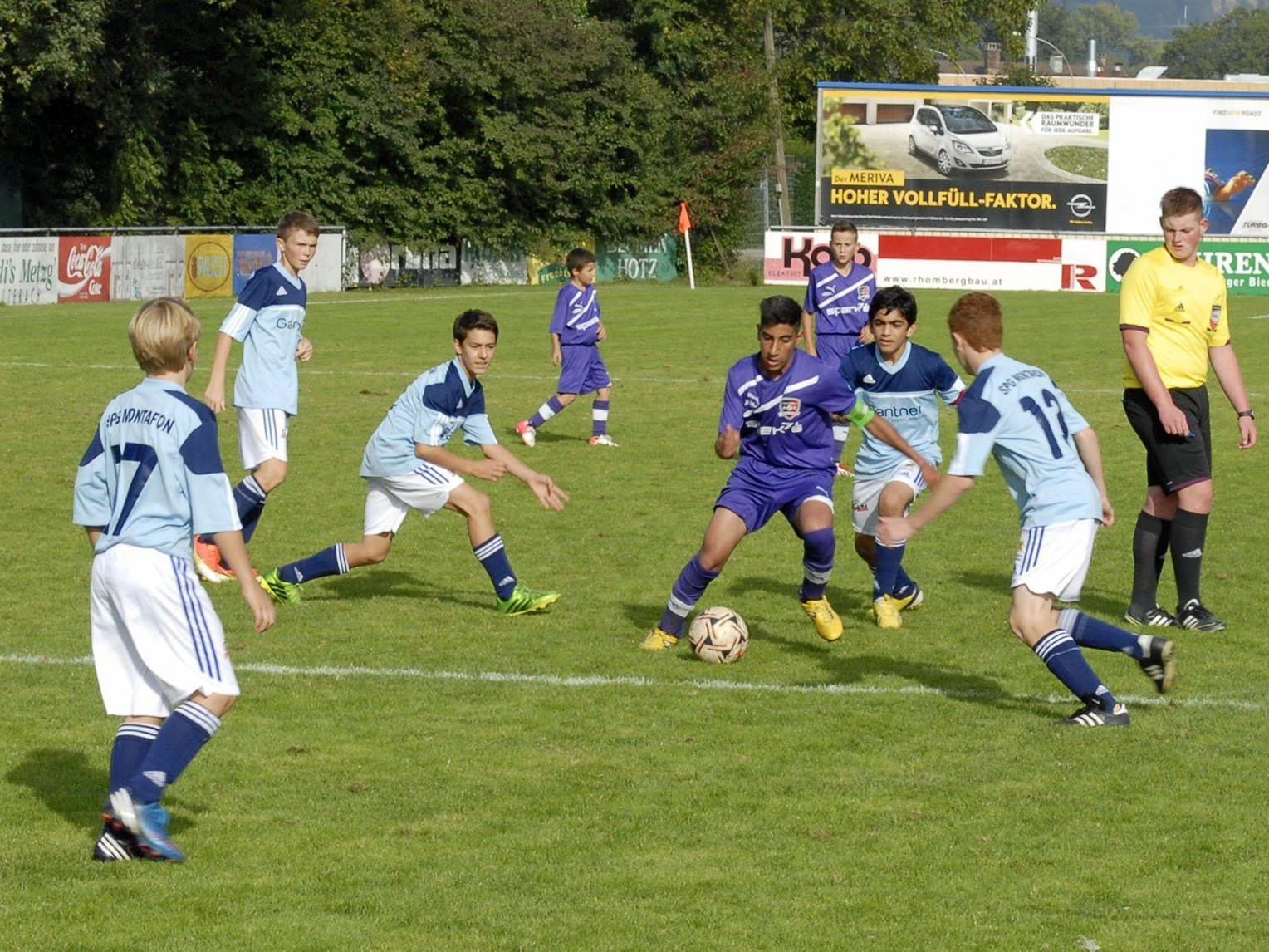 Das Spiel gegen die Viktoria in Bregenz verlief für die SPG Montafon U14 nicht nach Wunsch.