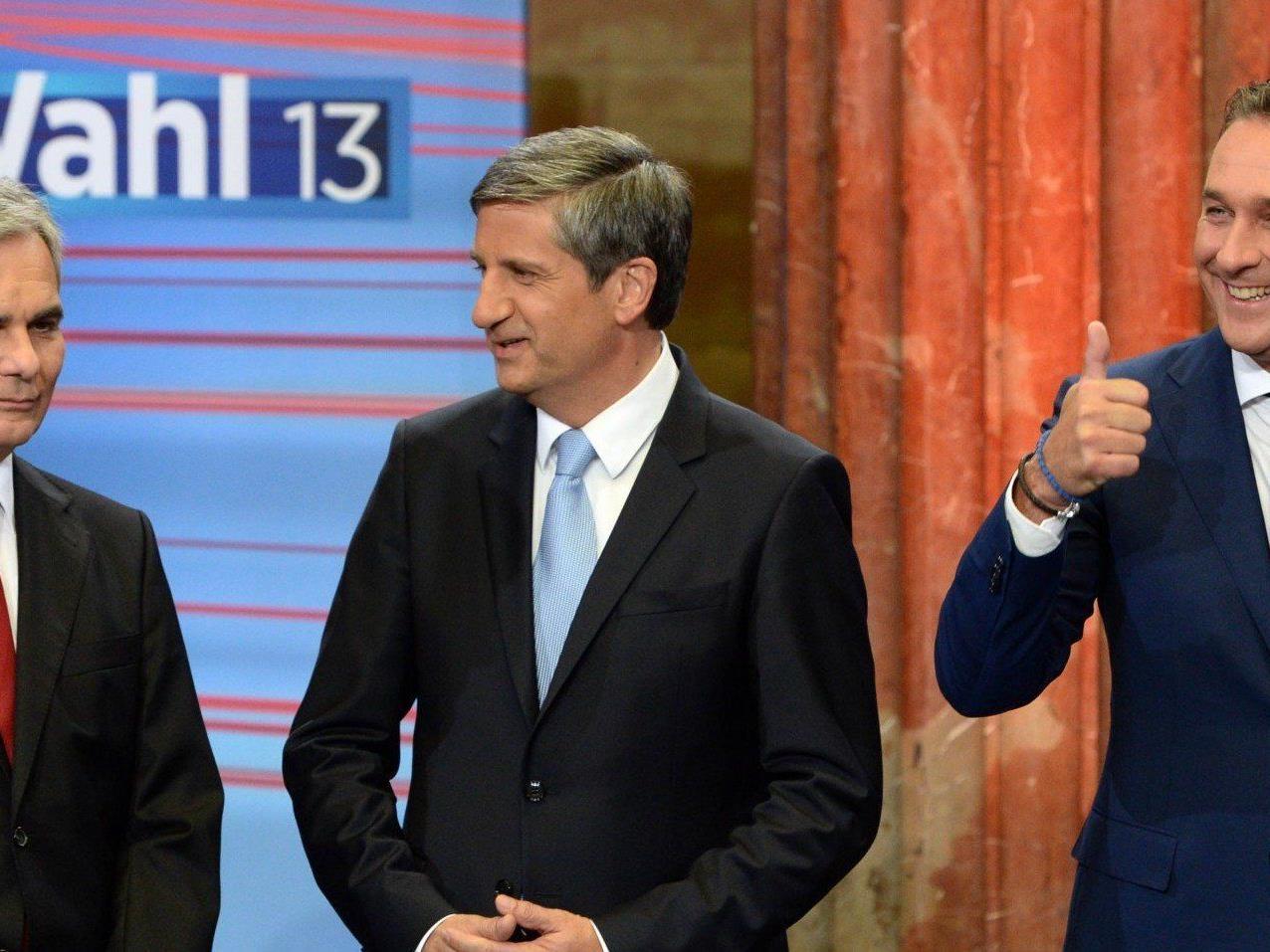 SPÖ-Chef Werner Faymann möchte nach der Nationalratswahl nur mit der ÖVP verhandeln.